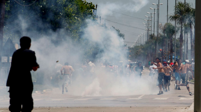 Gadekampe i Buenos Aires, den 21. december 2012