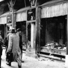 Ødelagt jødisk butik i Wien