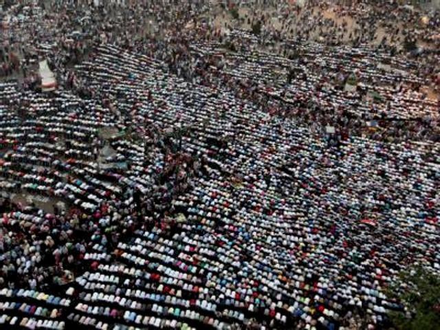 Islamisternes protester mod militærrådet på Tahrirplads onsdag, d 20. juni 2012
