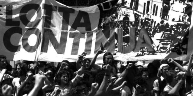 En af  68-oprørets store venstreradikale organisationer 'Lotta Continua' (Kampen fortsætter)