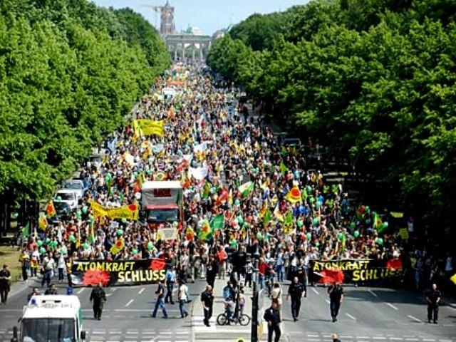 Anti-atomkraftdemo i Berlin, lørdag d. 28.maj 2011
