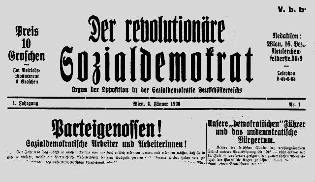 Venstreoppositionel tendens i socialdemokratiet i starten af 30´erne