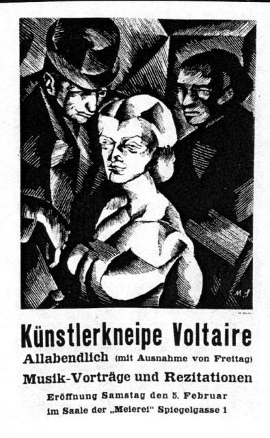 Dadaisternes cafe/værtshus Voltaire i Zürich omkring 1916