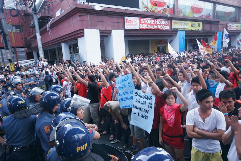 Arbejderdemo i Manila, Filippinerne, december 2011