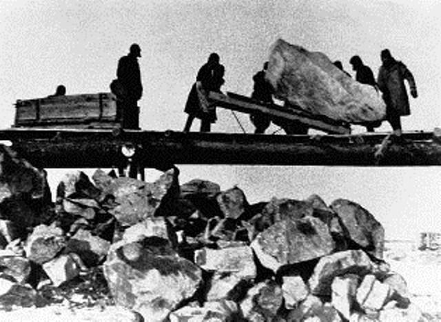 Stalins arbejdslejre. Her ses tvangsarbejde i Vorkuta-lejren.