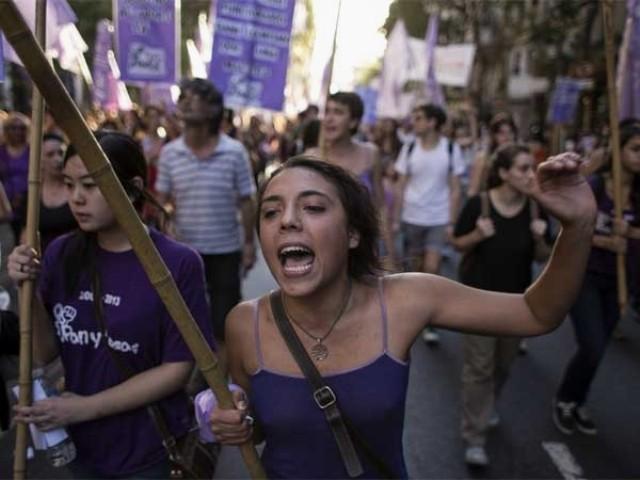 8.marts demo i Buenos Aires