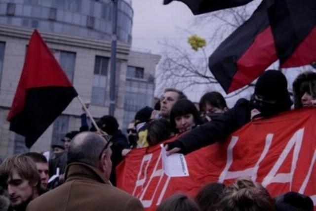 Anarkisternes blok i demoen i Moskva den 10. december 2011