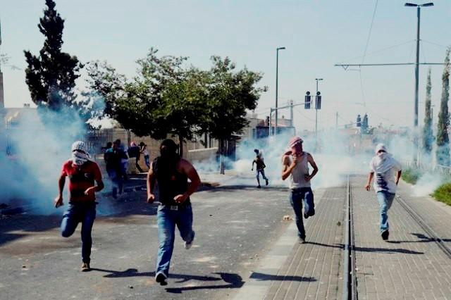 GAZA by, den 9. juli 2014