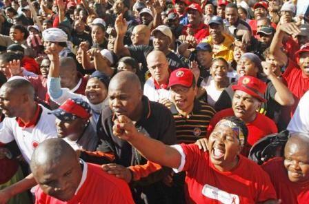 Strejkedemo i Johannesburg