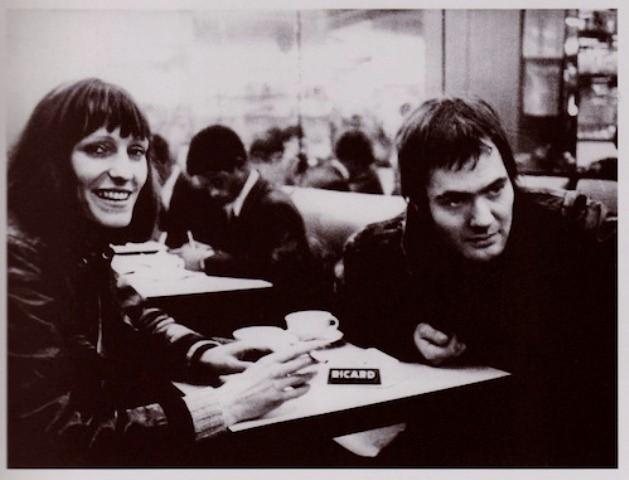 Andreas Baader og Gudrun Ensslin på 'Café de Flore'  i Paris
