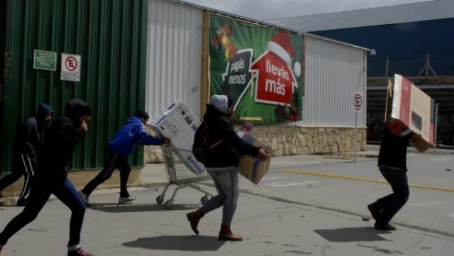 Tag-selv-aktion i en af Buenos Aires nordlige forstæder