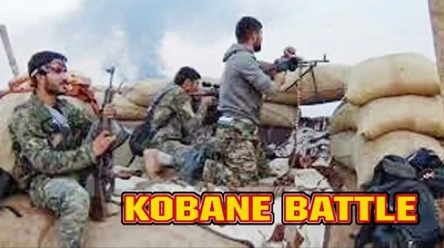 Kurdiske fightere fra YPG-militsen (Committees for the Protection of the Kurdish People) i kamp mod IS