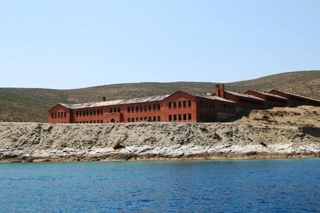 Fængsel på øen Gyaros