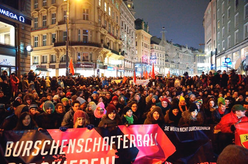 Demo mod Akademikerball i Wien sidste år