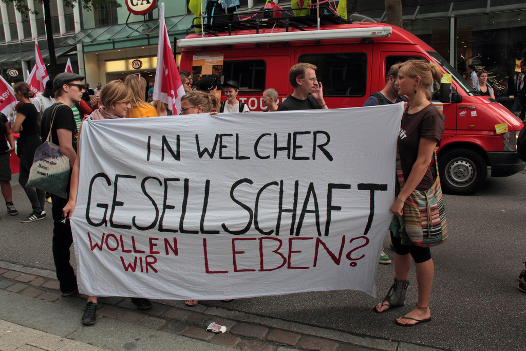 Soliaritetsdemonstration i Hamburg, d. 22. oktober 2013