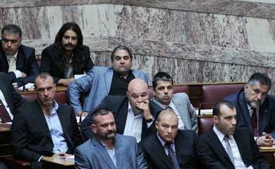 Chrysi Avgi's fængslede parlamentsmedlemmer