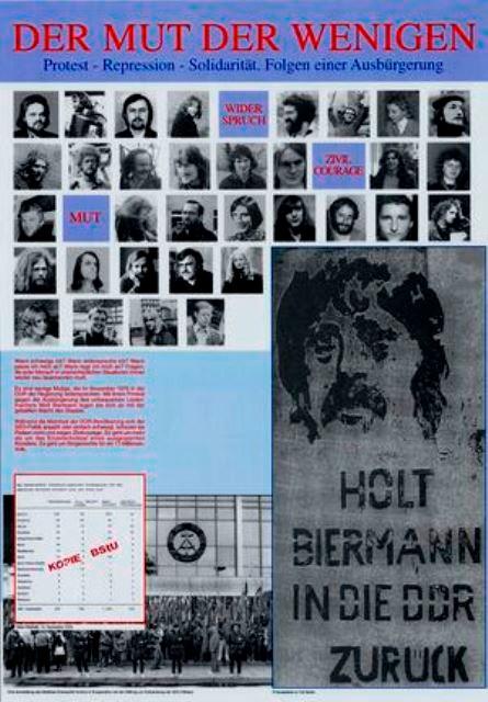 Østtysk solidaritetsplakat med Wolf Biermann