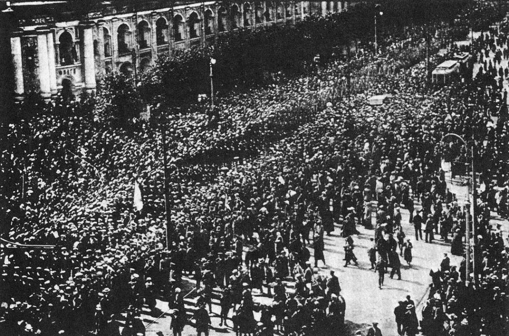 Arbejderdemo i Kronstadt 1917
