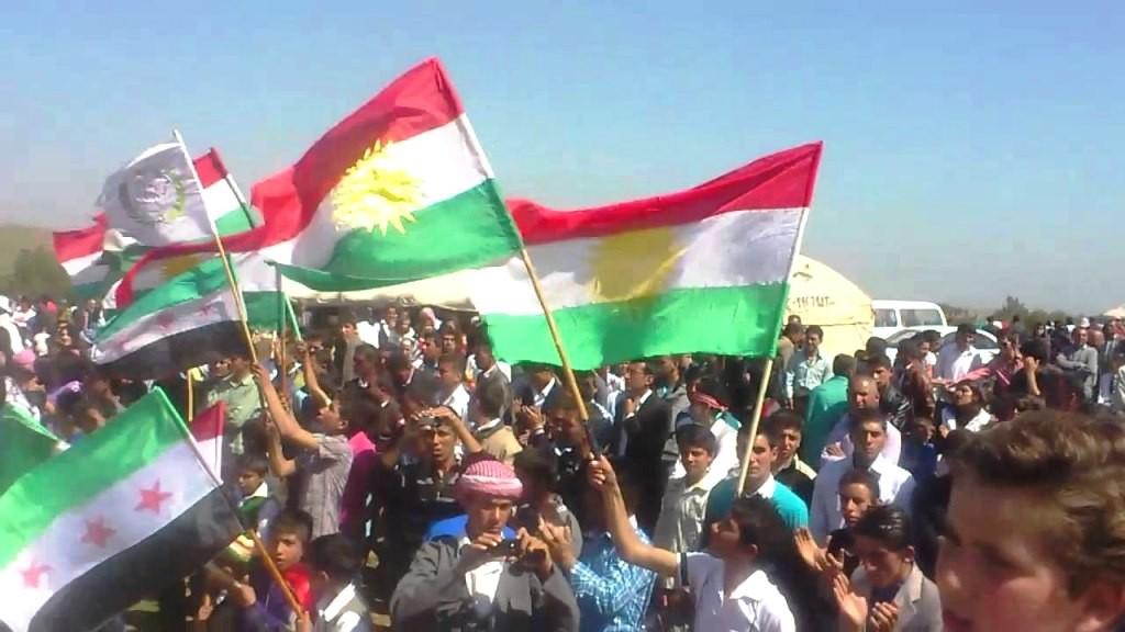 "Kurderne fester deres nytår ""newroz"" i Kobani"