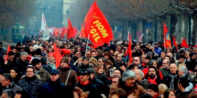Generalstrejkedemo i Torino, d. 27. januar 2012