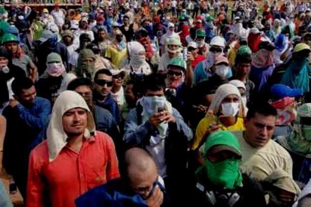 Demo mod repression i Bogota