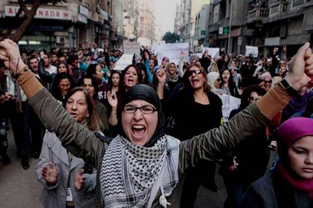 Kvindedemo i Tunis