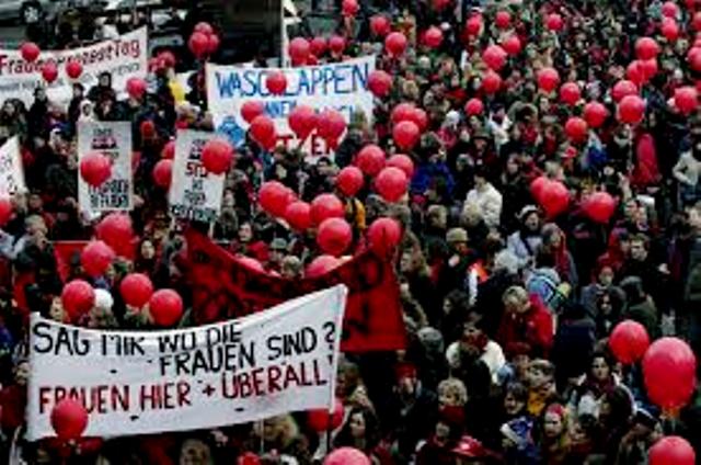8.marts demo i Bern, Schweiz' hovedstad