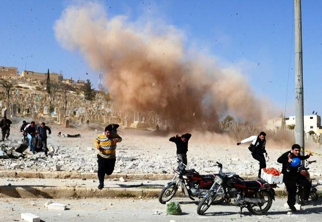 Bombadering af den nordsyriske by al-Bab , d. 4.. november 2012