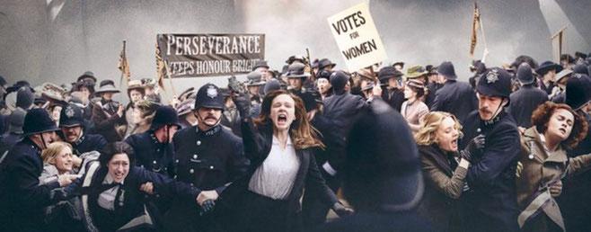Billedet er fra filmen 'Suffragette', der har haft premiere i biografer i november 2015