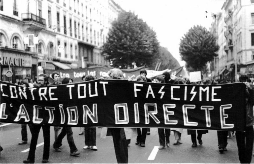 Solidaritetsdemo med de politiske fanger fra  Action Direkte