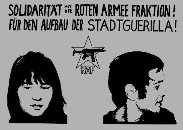 RAF-medlemmer Ulrike Meinhof , Andreas Baader