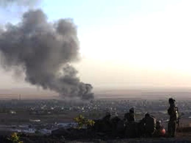 USAs militær bomber IS-jihadister ved byen Makhmur, 280 km fra den kurdiske hovedstad Erbil