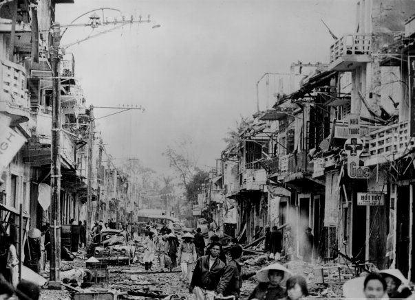 Vietnams sønderbombede byer (Hue, 1969)