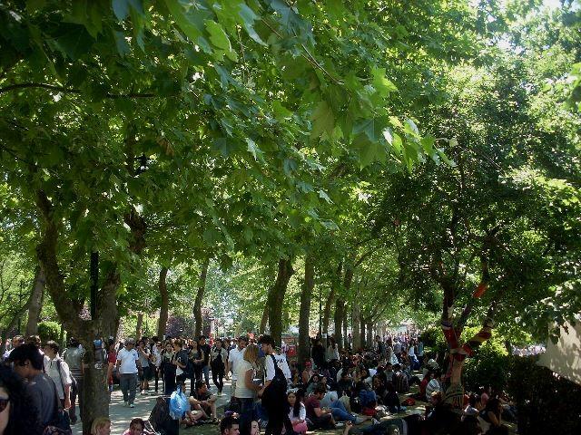 Gezi-park i Istanbuls centrum