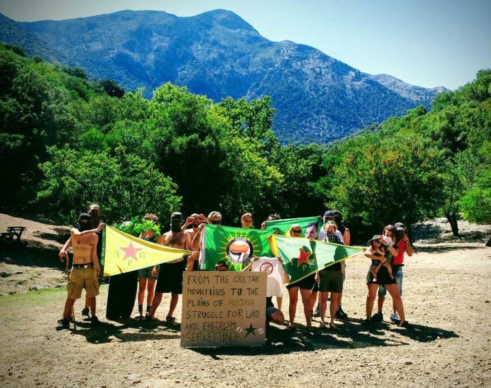Solidaritet med Rojava fra Kreta, Grækenland