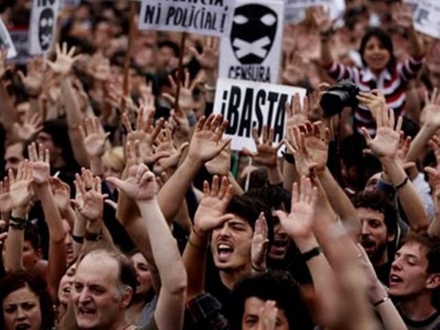 """Democracia Real YA!"" (Ægte demokrati NU) , Madrid, d 15. maj 2011"