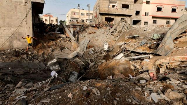 GAZA by, den 10. juli 2014
