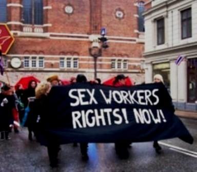 Sexarbejdere demonstrerer 8.marts 2009 i København