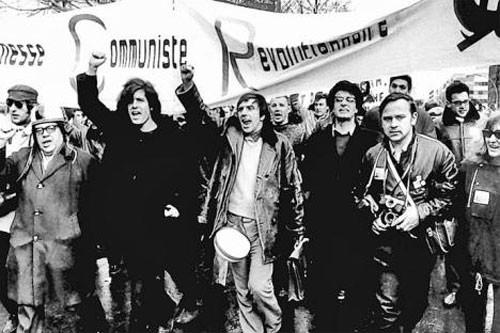 Vietnam -  solidaritetsdemo i Berlin 1968 ( med Gaston Salvadore, Rudi Dutschke og Alain Krivine)