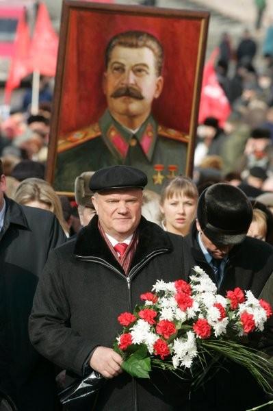 Kommunistpartiets formand Gennadij Sjuganov i Moskva