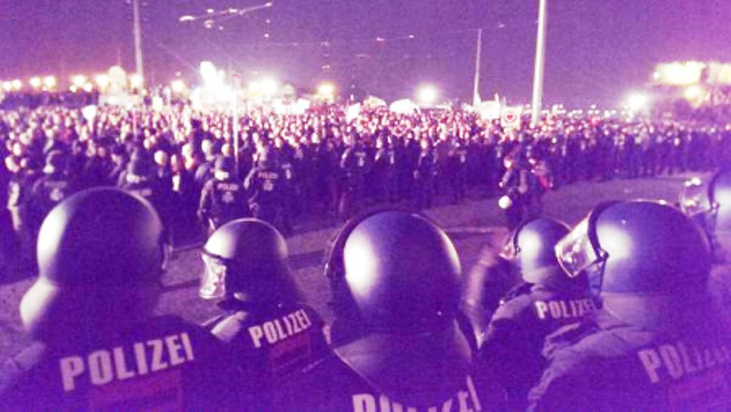 Op til 19000 antiracister demonstrerede i Dresden mod Pegida