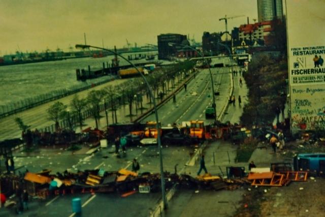 Barrikadekampe i Hafenstrasse, 1987