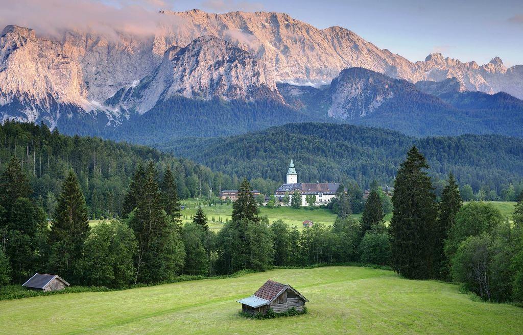G7 - konferencestedet Slot Elmau i 'Oberbayern'