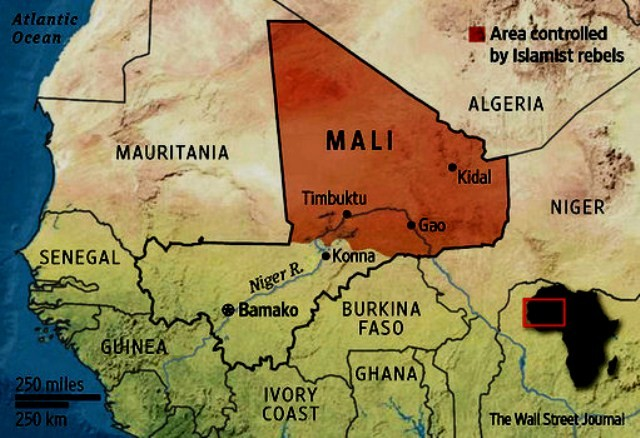 MALI. Areal: 1.240.192 km2  / 14,5 millioner indbyggere