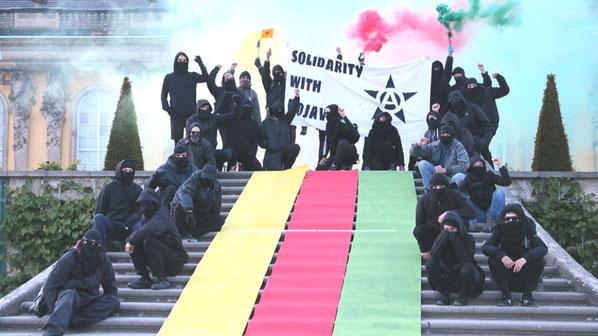 Solidaritet med Rojava fra Potsdam, Tyskland