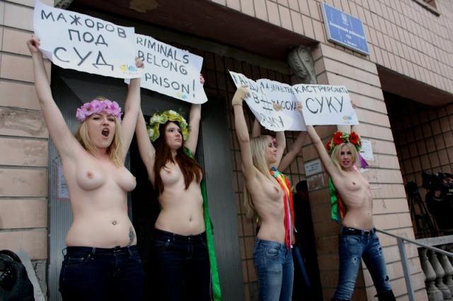 FEMEN aktioner i Kiev