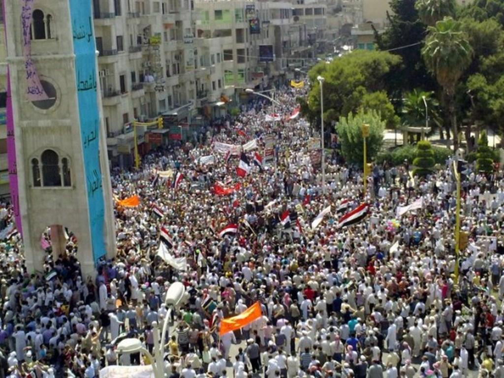 Det folkelige oprør mod Assad-diktaturet i byen Hama i 2011