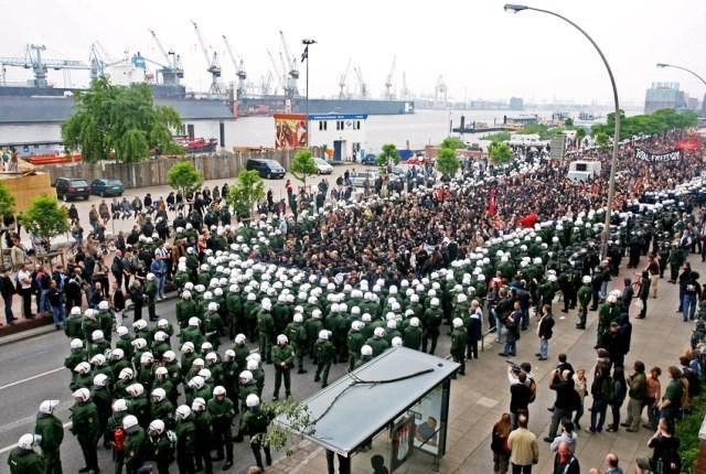 Autonom anti-G8-topmøde demo i Hamburg, d. 28.maj 2007