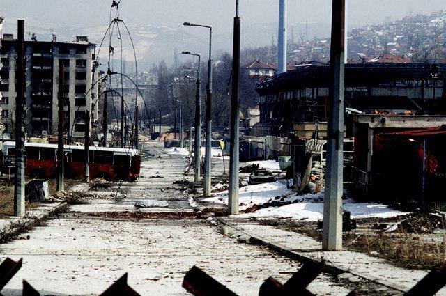 Det ødelagte Sarajevo 1996