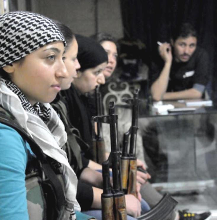 Kurdisk kvindegruppe kæmper i Aleppo mod Assad-regimet